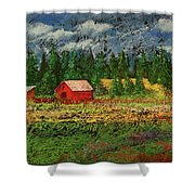 North Idaho Farm Shower Curtain by David Patterson