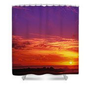 North Shore Sunset Shower Curtain by Vince Cavataio - Printscapes