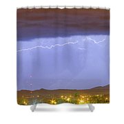 Northern Colorado Rocky Mountain Front Range Lightning Storm  Shower Curtain by James BO  Insogna
