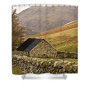 Northumberland, England Stone House Shower Curtain by John Short