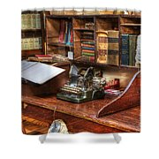 Nostalgia Office 2 Shower Curtain by Bob Christopher