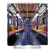 Nyc Subway Shower Curtain by Kelley King