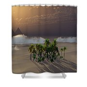Oasis Shower Curtain by Richard Rizzo