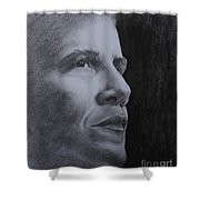 Obama Shower Curtain by Lise PICHE