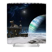 Observatory Shower Curtain by Cynthia Decker