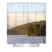October Landing Shower Curtain by Michael Mooney