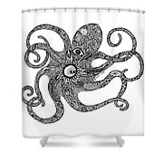 Octopus Shower Curtain by Carol Lynne
