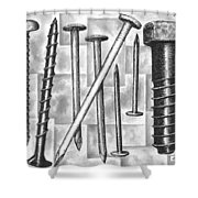 Odds And Ends Shower Curtain by Adam Zebediah Joseph