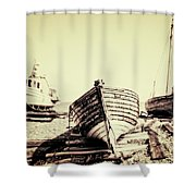 Of Different Eras Shower Curtain by Meirion Matthias