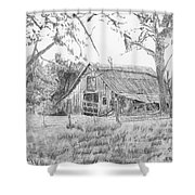 Old Barn 2 Shower Curtain by Barry Jones