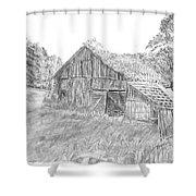 Old Barn 3 Shower Curtain by Barry Jones