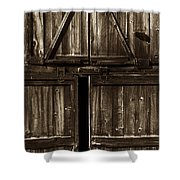 Old Barn Door - Toned Shower Curtain by Paul W Faust -  Impressions of Light