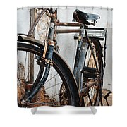 Old Bike II Shower Curtain by Robert Meanor