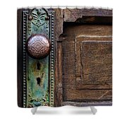 Old Door Knob Shower Curtain by Joanne Coyle