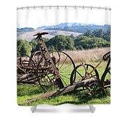 Old Farm Equipment . 7d9744 Shower Curtain by Wingsdomain Art and Photography