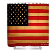 Old Glory . Square Shower Curtain by Wingsdomain Art and Photography