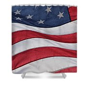 Old Glory Shower Curtain by Lauri Novak