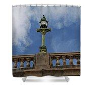 Old London Bridge - Az Shower Curtain by Carol  Eliassen