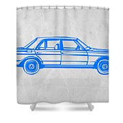 Old Mercedes Benz Shower Curtain by Naxart Studio
