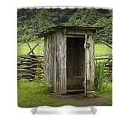 Old Outhouse On A Farm In The Smokey Mountains Shower Curtain by Randall Nyhof
