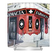 Old Pharmacy Shower Curtain by Tomas Castano