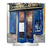 Old Plumbing-madrid  Shower Curtain by Tomas Castano