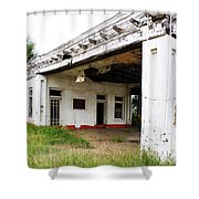 Old Texas Gas Station Shower Curtain by Marilyn Hunt