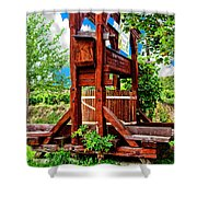 Old Wine Press Shower Curtain by Mariola Bitner