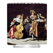 OLIS: A MUSICAL PARTY Shower Curtain by Granger