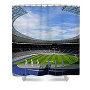 Olympic Stadium Berlin Shower Curtain by Juergen Weiss