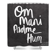 Om Mani Padme Hum Shower Curtain by Linda Woods