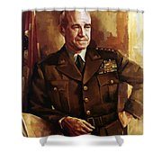 Omar Bradley Shower Curtain by War Is Hell Store