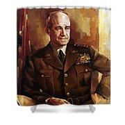 Omar Bradley Shower Curtain by War Is Hell Store