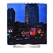 On Broadway In Nashville Shower Curtain by Susanne Van Hulst