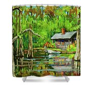 On The Bayou Shower Curtain by Dianne Parks