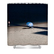 On The Beach Shower Curtain by Dave Bowman