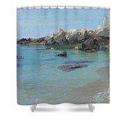 On The Capri Coast Shower Curtain by Paul von Spaun