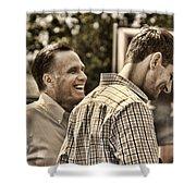 On The Road-mitt Romney Shower Curtain by Joann Vitali