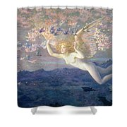 On the Wings of the Morning Shower Curtain by Edward Robert Hughes