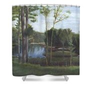 Once Shower Curtain by Sheila Mashaw