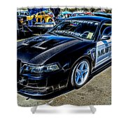 One Bad Ass Squad Car Shower Curtain by Tommy Anderson