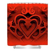 One Love Shower Curtain by Jane Alexander
