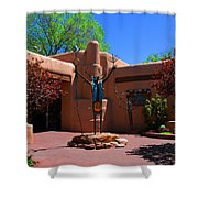 One Of The Many Art Galleries In Santa Fe Shower Curtain by Susanne Van Hulst
