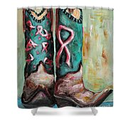 One Size Fits All Shower Curtain by Frances Marino