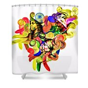 One United Shower Curtain by Mo T