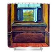 Open Window Shower Curtain by Michelle Calkins
