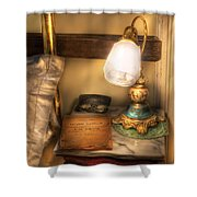 Optometrist - Night Stand  Shower Curtain by Mike Savad