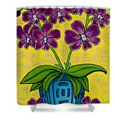 Orchid Delight Shower Curtain by Lisa  Lorenz