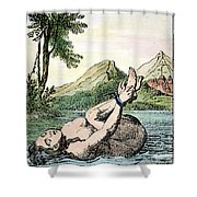 ORDEAL BY WATER Shower Curtain by Granger