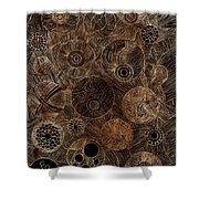 Organic Forms Shower Curtain by Frank Tschakert